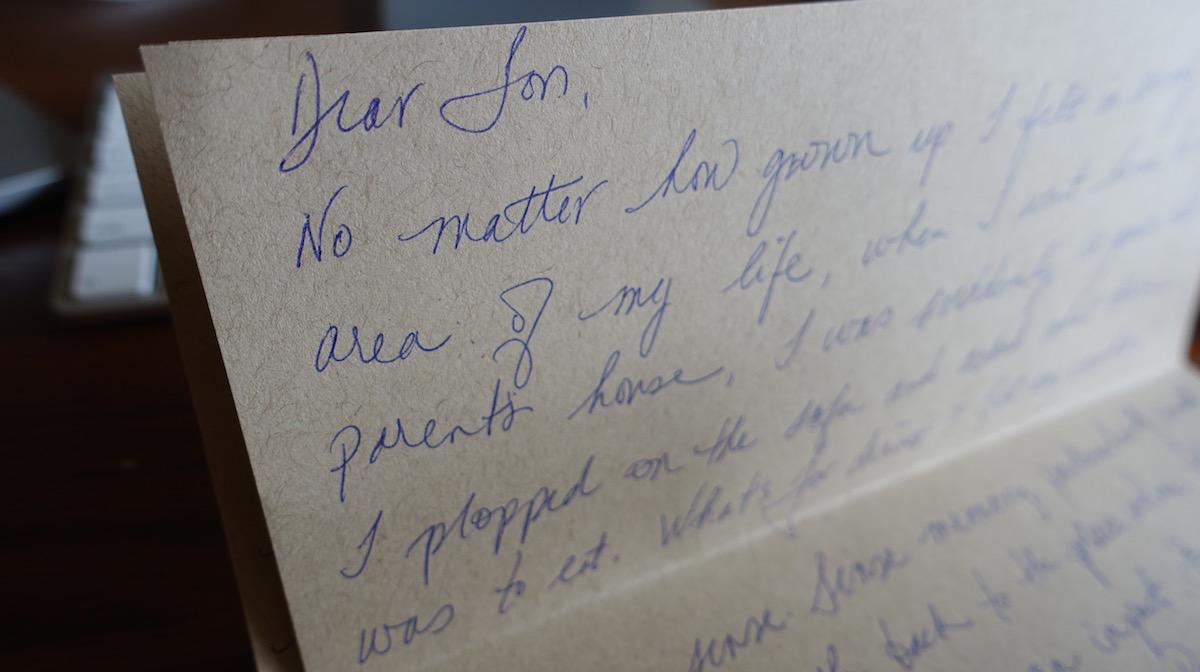 A Letter To Mom.A Letter From Mom And Sons Magazine