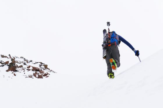 You gotta go up to come down in the backcountry. Photo by Blaine Eldredge